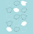 chicks outlines and silhouettes pattern turquoise vector image vector image