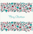 christmas and new year nature holiday pattern card vector image