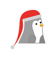 christmas penguin with hat decoration funny vector image vector image
