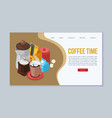 coffee time web template vector image vector image