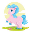 colorful pony fantasy horse playing in the park vector image vector image