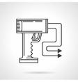 Contour icon for stun gun vector image vector image