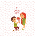 Couple in love 20 vector image