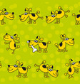 cute kid style dog pat seamless pattern vector image