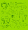 doodle hand drawn pattern sketches isolated on vector image vector image