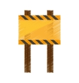 drawing sign road rectangle caution empty vector image