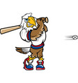 eagle sports baseball logo mascot vector image