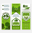 eco green business banner template with tree vector image vector image