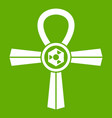 egypt ankh symbol icon green vector image vector image