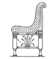 egyptian chair with patterned material have very vector image vector image
