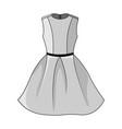 elegant whitegray dress template vector image