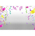 festive background with balloons and vector image vector image