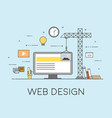 flat mobile ui ux design web infographic concept vector image