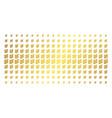 flora plant golden halftone pattern vector image