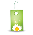 Floral gift tag vector image vector image