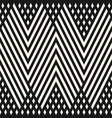 geometric lines pattern black and white ornament vector image vector image
