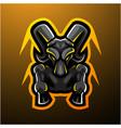goats mascot logo vector image