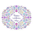 hand drawn floral card vector image