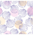 Hand drawn - seamless pattern of seashells marine