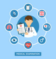 health care services concept with infographics vector image