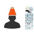 Heavy Person Stress Icon with 2017 Year Bonus vector image vector image