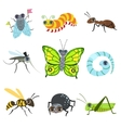 Insect Cartoon Images Collection vector image vector image
