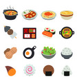 japanese food traditional cuisine sushi vector image