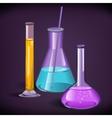 Laboratory glassware print template vector image vector image