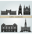 Lublin landmarks and monuments vector image vector image