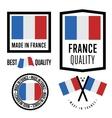 Made in France label set national flag vector image