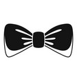 man bow tie icon simple style vector image
