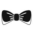 man bow tie icon simple style vector image vector image