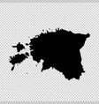 map estonia isolated black vector image vector image