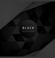 modern geometric mosaic pattern black background v vector image vector image