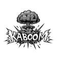 monochrome comics icon vector image