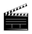 movie clapper board open cinematography concept vector image