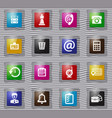 office glass icons set vector image vector image