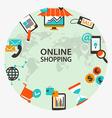 Online shopping emblem vector image vector image