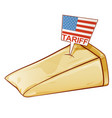 parmesan united states tariffs on europe as vector image vector image