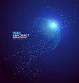 Particle abstract graphics sense of technol vector image vector image