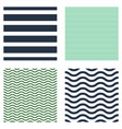 pattern stripe seamless set design for wallpaper vector image vector image