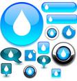 Raindrop signs vector image vector image