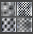realistic perforated brushed metal textures set vector image vector image