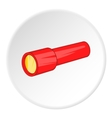 Red flashlight icon cartoon style vector image vector image