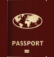 red passport vector image