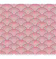 red seigaiha japanese wave pattern vector image