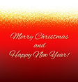 Red Xmas Card With Text vector image vector image
