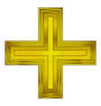 Religious gold cross vector image vector image