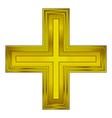 Religious gold cross vector image