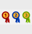 ribbon award three variants vector image